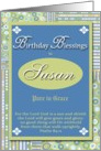 Birthday Blessings - Susan card
