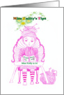 Miss Knitty's Tips,Friendly suggestions for the newbie knitter,humor card