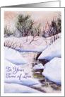 Sympathy In Your Time of Loss,Winter Creek Pink Morning Watercolor card
