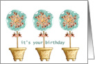 It's Your Birthday Topiary Trees card