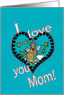 I Love You Mom, Angel Kitty Cat Mother's Day card