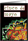 Cinco de Mayo, abstract Mexican-Style art card