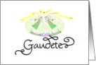 Christmas Card Gaudete Latin Rejoice card