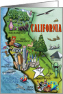 California Caroon Map Card