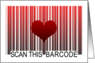 I Love You Barcode card