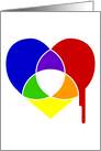 color chart heart : i love you card