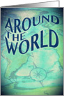 around the world theme party invitation card