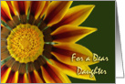 Nurses Day for Daughter, Gazania Flower Up Close card