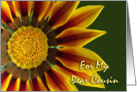 Any Occasion, Blank Note Card for Cousin, Gazania Flower card