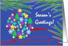 Season's Greetings, Christmas Ornament, Holiday Symbols & Pine Needles card