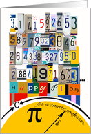 Pi Day 3.14 for Professor, Numbers & Equations card