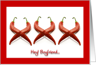 Valentine for Boyfriend, XXX Hot Chili Peppers card