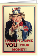 Tax Day Older Uncle Sam card