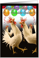 Birthday for Godson, Crazy Chicken Dance card