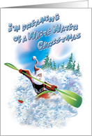 White Water Christmas card