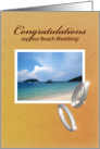 congratulations, beach wedding card
