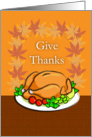 Happy Thanksgiving, Turkey on a Platter card