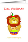 Happy Father's Day - lion, rock card