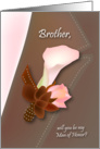will you be my man of honor, lily, boutonniere, brother card