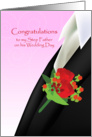 congratulations for step father, boutonniere, card