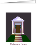 Welcome Home, house, summer camp card