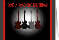 Rockin' Birthday, 4 guitars card