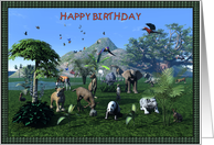 Happy Birthday-Wild Animals card