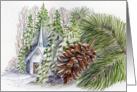 Christmas Church Happy Holidays card