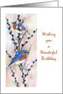 birthday bluebirds card