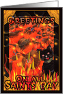 All Saint's Day Greetings from black cats card