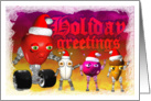 Holiday Greetings, funny robot food card