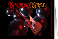 Rock n Roll Guitar card