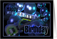 Happy musical birthday card