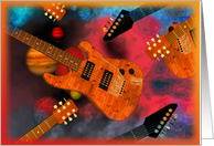 Guitars rock the universe card