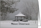 Gazebo in Winter Christmas Card
