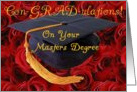 Con-GRAD-ulations! on your Masters Degree card