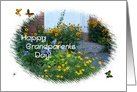 Happy Grandparents Day!-Garden Flowers & Butterflies card