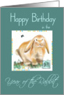 Happy Birthday Year of the Rabbit-Chinese Astrology/Attributes Verse card