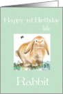 Happy 1st Birthday-Chinese Astrology/Year of Rabbit Child card