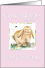 Congratulations New Baby Girl-Year of Rabbit/Chinese Astrology card