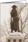 Veterans Day-Soldier Statue/Sepia card