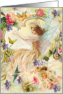 Fairy Friends, Victorian Fantasy card