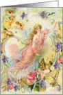 Fairy Friends, angles, cherubs card