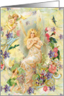 Fairy Friends, angels, cherubs, floral card