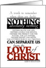 Encouragement Love of Christ card