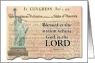Patriotic Blessed is the nation card