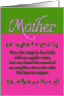 Mother Angelic Voice card