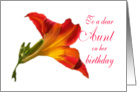 Birthday Daylily Aunt card
