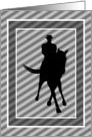 Dressage Horse And Rider Silhouette Blank Note Card