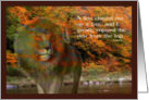 Fantasy Lion Autumn Scenery Inspirational Quote Card